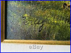 Vintage Percy, Landscape Oil on Canvas, Antique Frame, Signed Painting 24X20