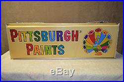 Vintage Pittsburg Paint Lighted Sign, 1960's