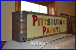 Vintage Pittsburgh Paint Sign Lighted Antique Advertising Sign