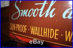 Vintage Pittsburgh Paints Flange Sign, Rare Version, Antique Advertising