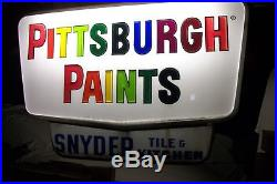 Vintage Pittsburgh Paints Light up sign. Working with marquee Best one I've seen