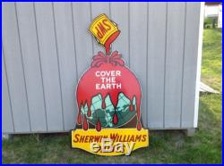 Vintage Porcelain Advertising Sign Sherwin Williams Paints