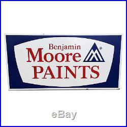 Vintage Porcelain Benjamin Moore Paints Dealer Sign