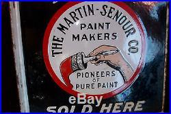 Vintage Porcelain Paint sign, Monarch Paint, The Martin-Senour Co