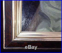 Vintage Portrait Painting Listed Signed Trubee (John 1895-1964 NY) Orig. Frame