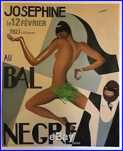 Vintage Poster Josephine Baker Au Bal Negra le 12 Février 1927 by Artist Caron