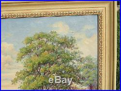 Vintage Quality Old Oil Painting Signed L Spencer Texas Bluebonnets Hill Country