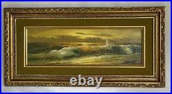 Vintage R. CRISTI Framed Original Oil Seascape Painting 16x10 Signed
