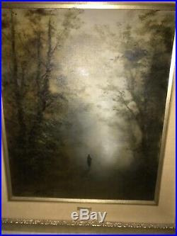 Vintage Rare Antique Mitsuzo Shimizu Original Signed Oil Painting Japanese Art