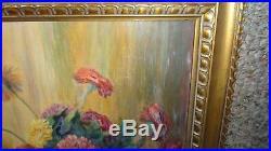 Vintage Regionalist Still-Life Floral Painting Signed K. M Texas Artist