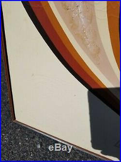 Vintage Retro 70's-80's MCM Signed Letterman Triptych 3 Panel Painting