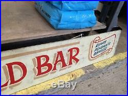 Vintage Retro Fairground Sign Amusements Gold Bar Hand Painted Display Decor Old