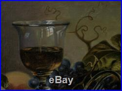 Vintage Russian Still Life Oil Painting, Signed and notes on the Reverse