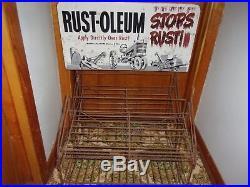 Vintage Rustoleum Spray Paint Sign Display Rack General Store