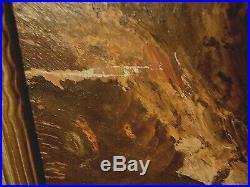Vintage Seascape Oil Painting Signed