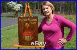 Vintage Sherwin Williams Commercial War Time Paint Sign Super Rare Sherwin Piece