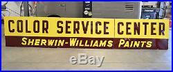 Vintage Sherwin Williams Paints COLOR SERVICE CENTER Porcelain Dealer Sign