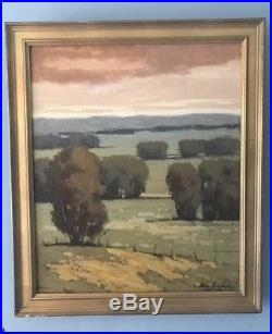 Vintage Signed California Artist Plein Air Landscape Oil Painting in Frame