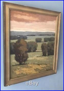 Vintage Signed California Artist Plein Air Landscape Oil Painting in Frame