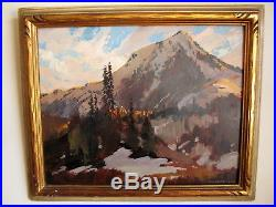 Vintage Signed Florence E. Ware Oil on Board Painting Impressionist Landscape