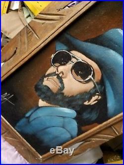 Vintage, Signed Hank Williams Jr Velvet Painting