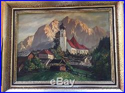 Vintage Signed Heinz Theis (1894-1966) Oil Painting on Canvas Framed