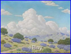 Vintage Signed Listed US Framed Oil Painting California Landscape circa 1930-40