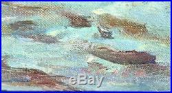 Vintage Signed New England Sailing Original Oil Painting