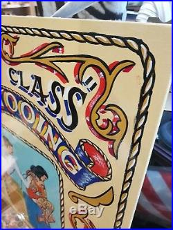Vintage Style Hand Painted Sign Written Tattoo Fairground Funfair Circus