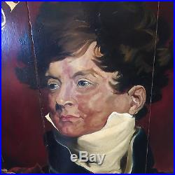 Vintage Tavern Pub Trade Sign Royal George Oil Painting on Wood