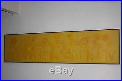 Vintage Tom Tru Wall Tapestry -signed- Raymor Eames Abstract Modern Painting