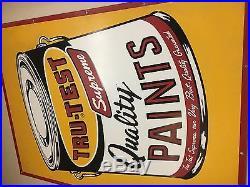 Vintage Tru-Test Supreme Quality Paints Large Metal Sign