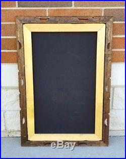 Vintage Unicorn Large Painting on Black Velvet 23 3/4 in x 36 Signed Framed