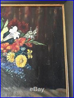 Vintage Used Oil Painting American-Chinese Signed