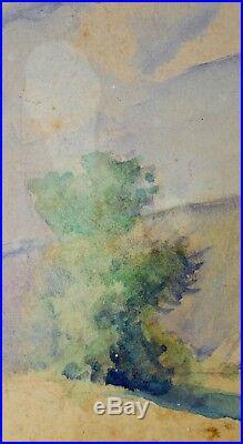 Vintage WILLIAM J BARTKO Watercolor California Desert Landscape Small Signed