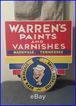 Vintage Warren's Paints and Varnishes Porcelain Sign