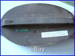 Vintage Wildfowler Factory Widgeon Duck Decoy Original Paint -Signed WTM