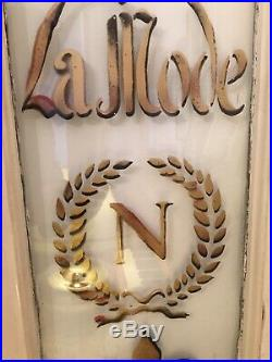 Vintage Window Painted French Cafe Sign