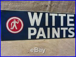 Vintage Witte Paint Sign Antique Old Metal Store Hardware Signs Painter 9569