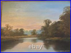 Vintage framed signed original oil painting on Canvas Maurice Coveney