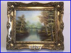 Vintage gilt framed original signed oil painting