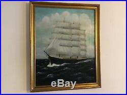 Vintage gilt framed original signed oil painting by artist E W Tunnicliffe
