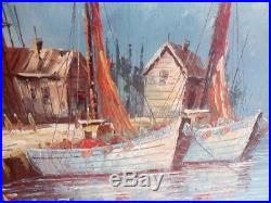 Vintage m. Blake oil painting signed m. Blake rare