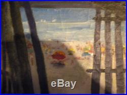 Vintage oil painting, Charles Andrew Taylor, signed, Listed Artist Wildwood NJ