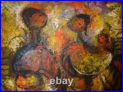Vintage oil painting people figures listed Jesus Ortiz Tajonar Mexican 1919-1990