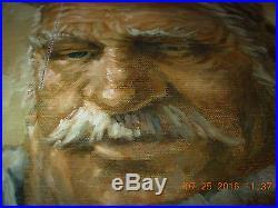 Vintage oil painting signed & FRAMED-Bill Root artist rare portrait BROOTIP nr