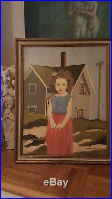 Vintage painting signed Edward Hopper