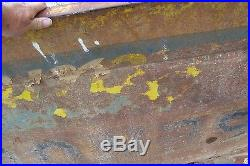 Vintage sign matin senior paint double sided, beat up bent dinged rusty