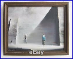 Vtg 1977 Surrealism California Listed Artist Robert Watson Oil Painting SIGNED