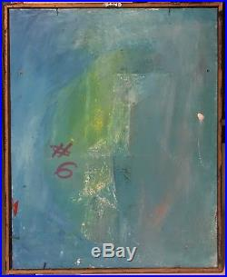 Vtg 60s Abstract Geometric Shapes Painting Retro Art Mid Century Modern Signed